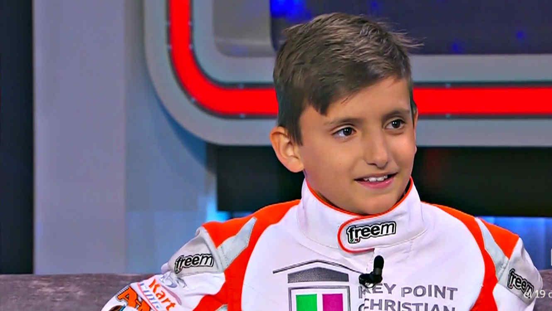 """Elio Giovane un héroe de las pistas de Kart con corazón humanitario en """"¡Qué Noche!"""""""