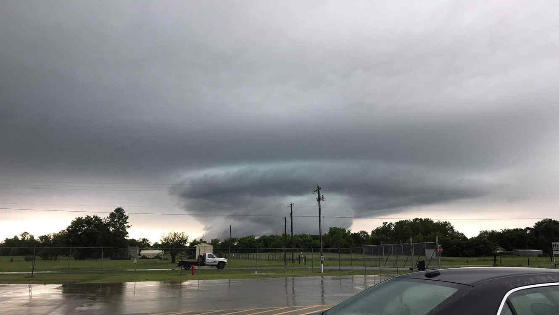 Tornado sobre Oklahoma ayer