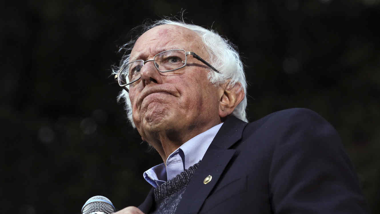 El precandidato demócrata Bernie Sanders.