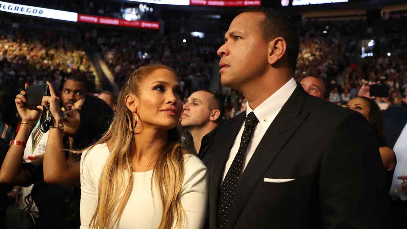 Jennifer Lopez and Alex Rodriguez Mayweather vs. McGregor Fight