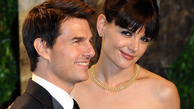 Katie Holmes y Tom Cruise en la fiesta de los Oscar 2012 de Vanity Fair