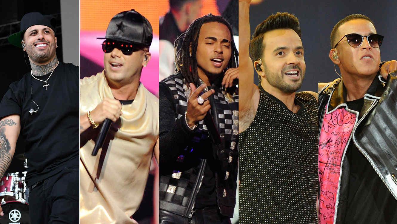 Nicky Jam, Wisin, Ozuna, Luis Fonsi, Daddy Yankee