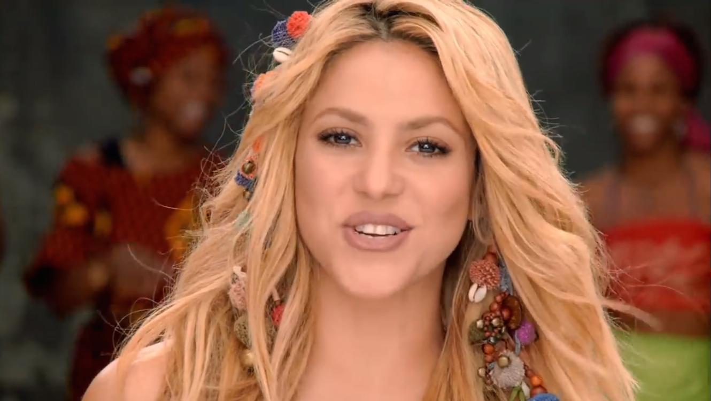 Shakira en su video musical Waka Waka