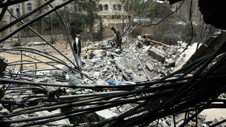 Devastación en Yemen