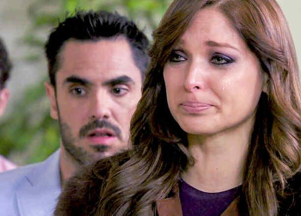 Blanca Soto, Linconl Palomeque, llorando, Señora Acero 2
