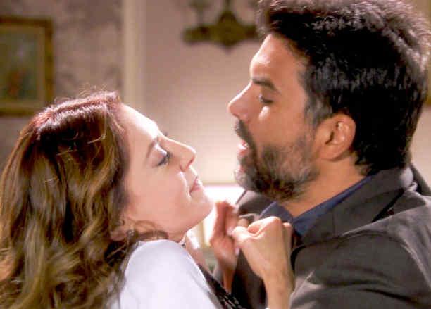 Jorge Luis Pila y Edith González peleando en Eva La Trailera