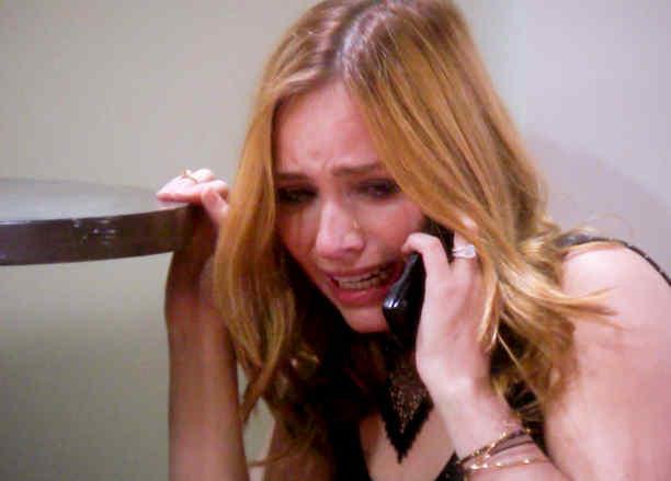Minnie West llorando en Eva La Trailera
