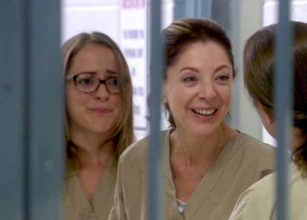 Edith, González, Eva, hablando con sus compañeras de celda, Eva la Trailera