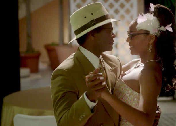 """Jeimy Osorio y Modesto lacén bailando en """"Celia"""""""
