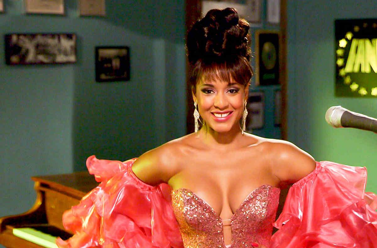 """Jeimy Osorio como Celia Cruz en """"Celia"""""""