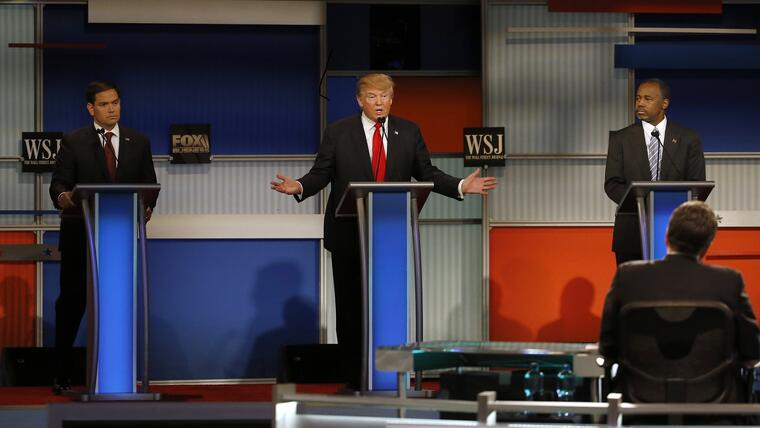 Donald Trump, Marco Rubio, Ben Carson