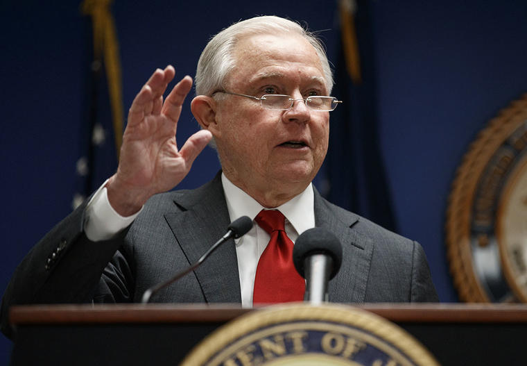 El fiscal general Jeff Sessions durante una conferencia en Washington.