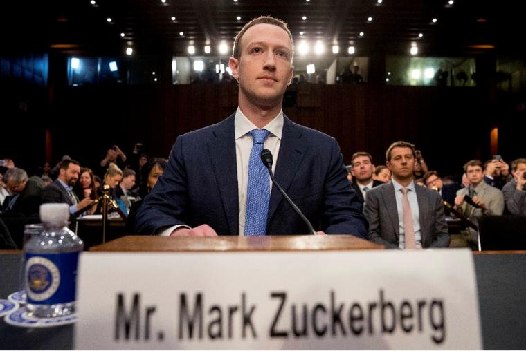 El CEO de Facebook, Mark Zuckerberg, en una audiencia en el Senado de Estados Unidos el pasado mes de abril.
