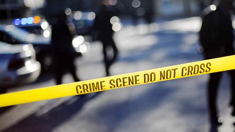Una foto de archivo de una escena de un crimen.