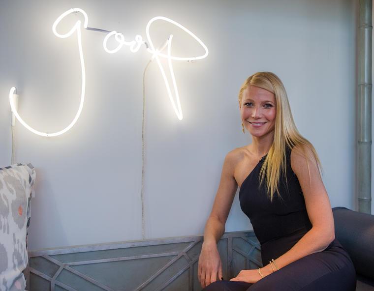 Gwyneth Paltrow en goop pop Dallas