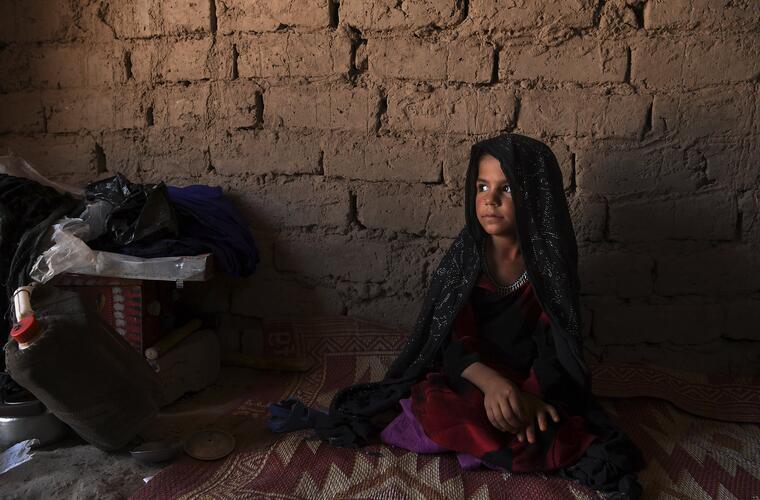 Farzana Nabi, una niña afgana, fue vendida por 61 dólares para ser casada, el 17 de junio de 2019.