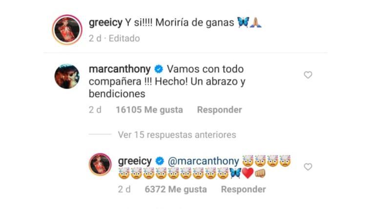 comentarios Greeicy y Marc Anthony