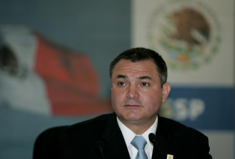 Genaro Garcia Luna en una imagen de archivo cuando dirigía la Secretaría de Seguridad Pública