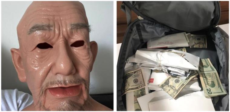 Máscara y dinero.