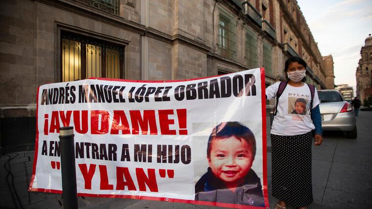 Juana Pérez pide ayuda a AMLO para encontrar a su hijo Dylan a mediados de julio de 2020.