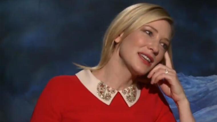 Cate Blanchett durante la entrevista de Cinderella para TV Project