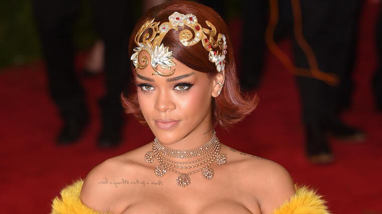 Rihanna en la gala MET de 2015