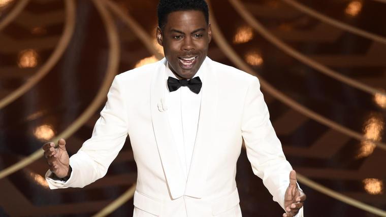Chris Rock presentando los Óscars 2016