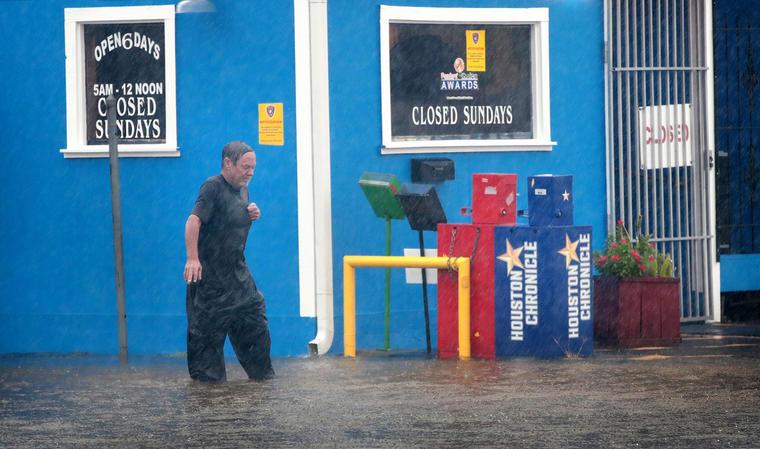 Inundaciones por Harvey en Galveston, Texas.