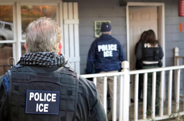 Imagen de archivo de una operación de ICE en Atlanta.