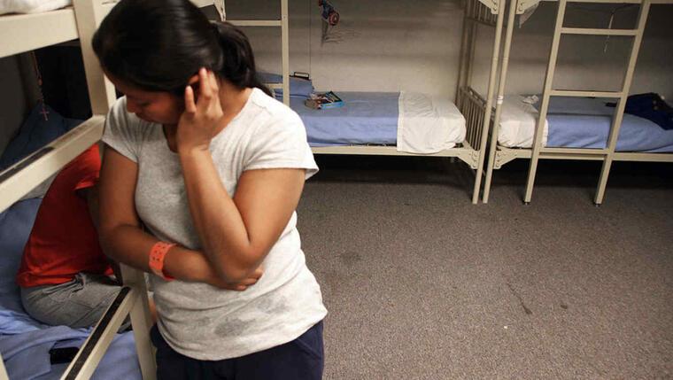 Una imagen de archivo de un centro de detención de EE.UU.