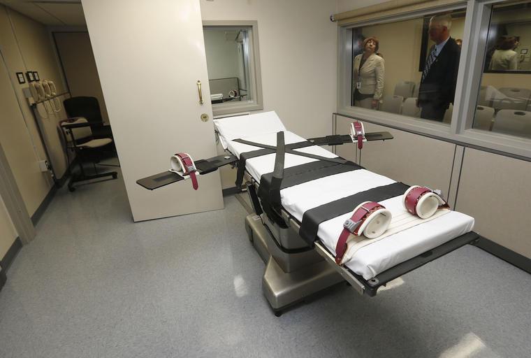 Imagen de archivo de una cámara de ejecuciones en Oklahoma.