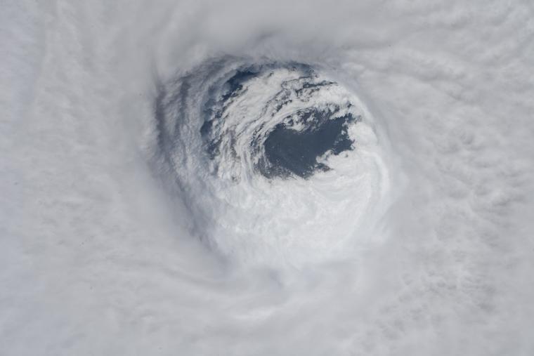 Vista del Huracán Michael desde el espacio.