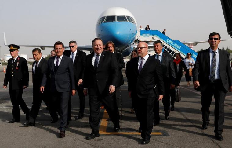 El secretario de Estado de Estados Unidos, Mike Pompeo, aterriza este miércoles en Ankara (Turquía).