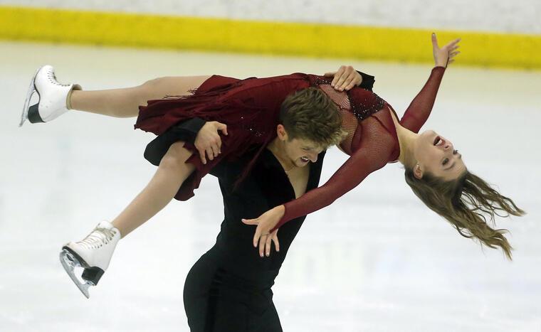 Carreira y Ponomarenko, en una competición en septiembre en Salt Lake City.