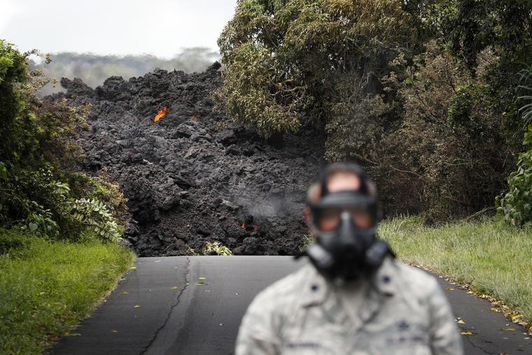 Rastro de lava de la erupción del Kilauea en Hawaii en mayo.