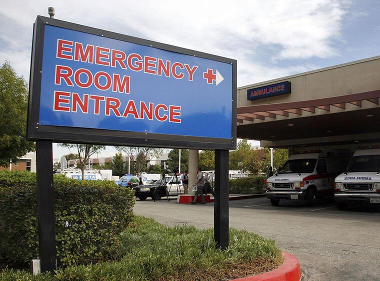 Entrada a la sala de emergencias en un hospital en California.