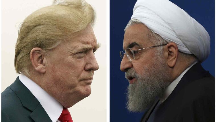 El presidente de Estados Unidos, Donald Trump (izquierda), y el presidente de Irán, Hassan Rouhani, en fotos de archivo.