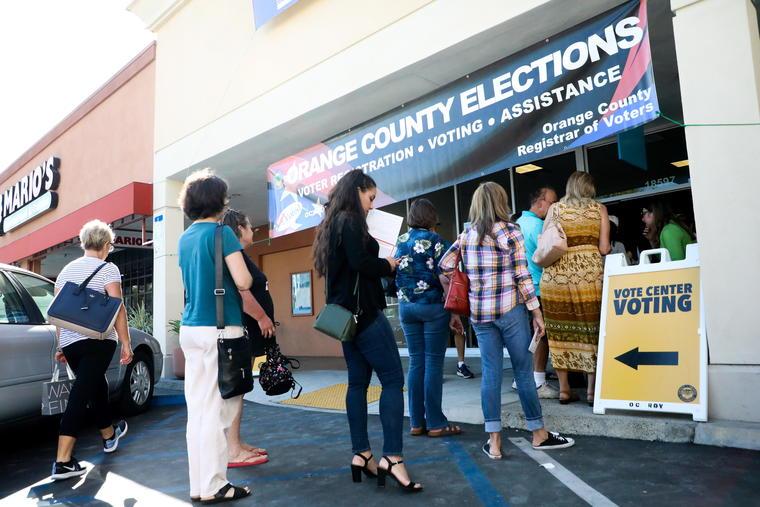 Votaciones anticipadas para las elecciones legislativas 2018 en Estados Unidos