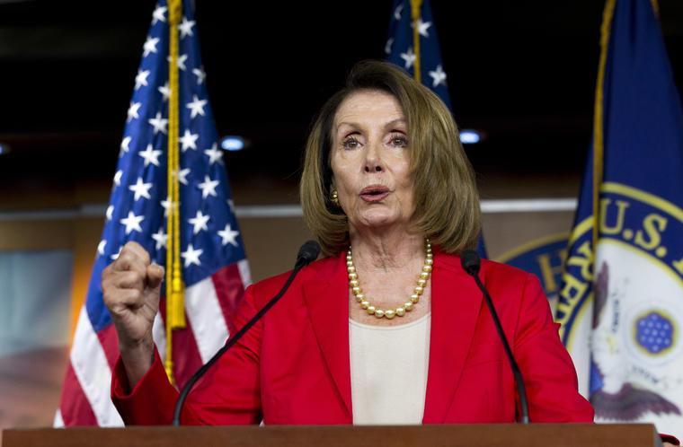 La dirigente de los demócratas en la Cámara de Representantes Nancy Pelosi