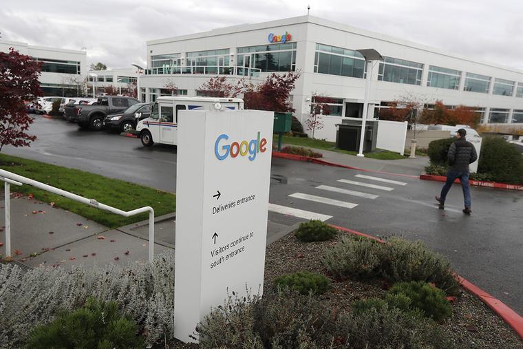 Entrada a una de las sedes de Google, en Washington D.C.