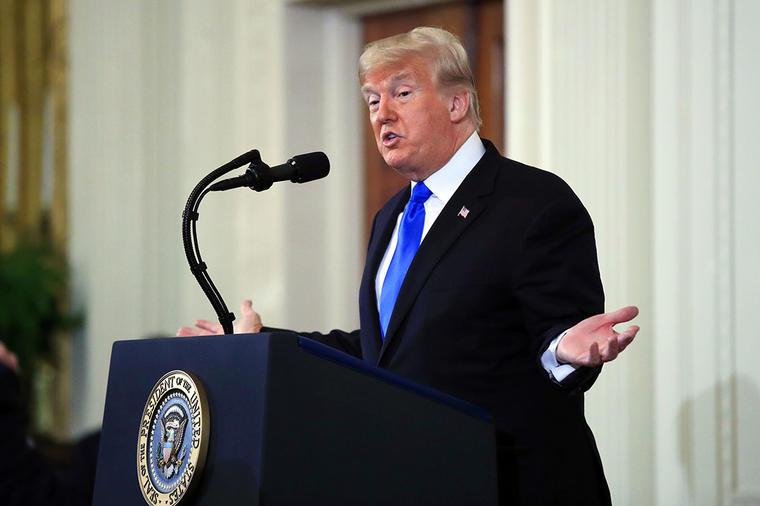 El presidente Donald Trump durante una conferencia de prensa en La Casa Blanca, en Washington.