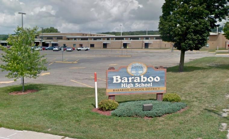 Baraboo High School en Baraboo, Wisconsin.
