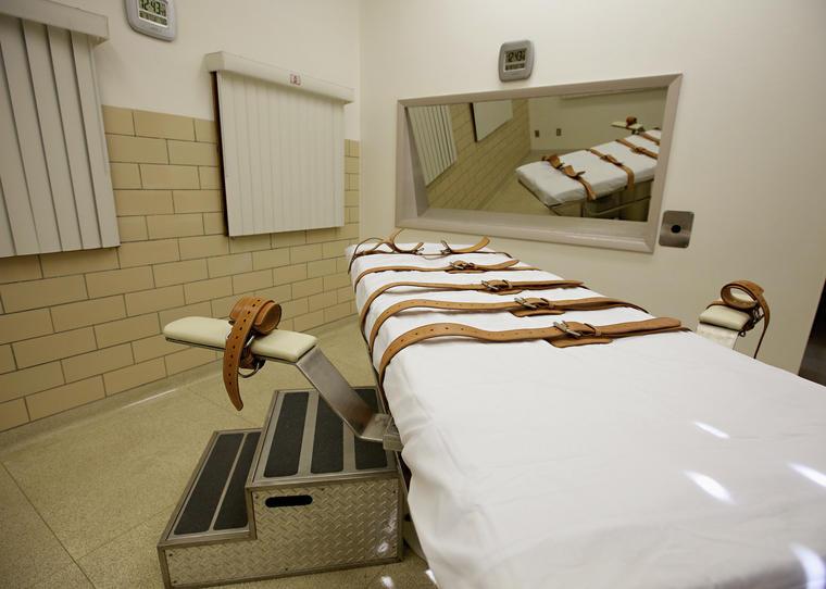 Cámara de ejecuciones en la penitenciaría estatal de Sioux Falls, en una imagen de archivo.
