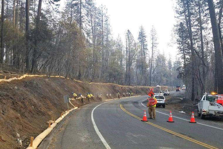 Las autoridades se preparan para la lluvia mientras el Camp Fire continúa en el condado de Butte