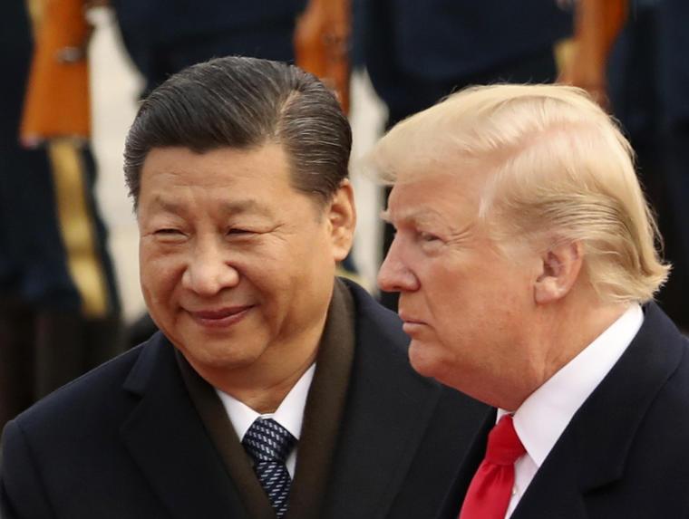 Xi Jinping y Trump en 2017 en Beijing