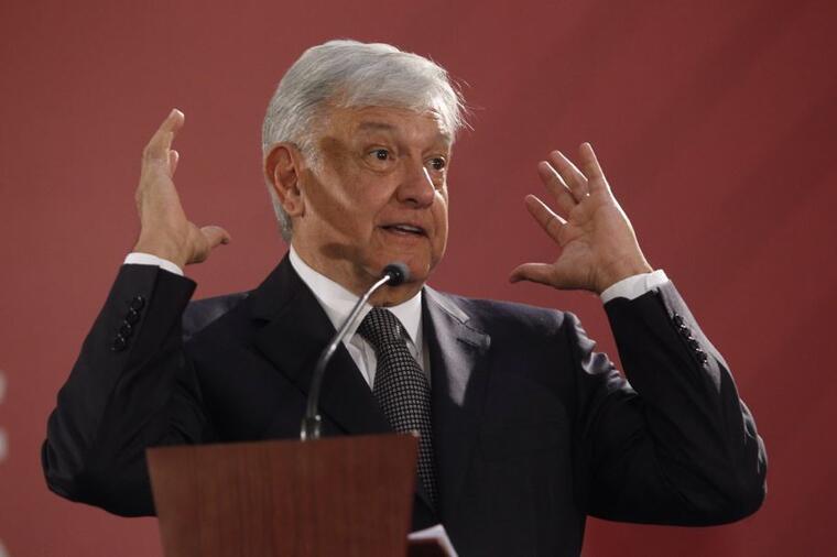 El presidente de México, Andrés Manuel López Obrador, este lunes en Ciudad de México.