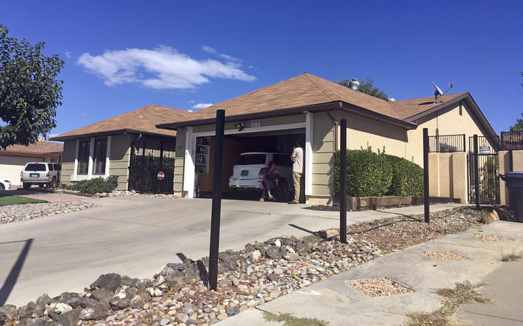 La casa en la que vive el protagonista de la serie 'Breaking Bad' en Albuquerque (Nuevo Mexico).