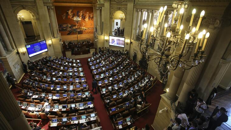 Foto de archivo del Congreso de Colombia