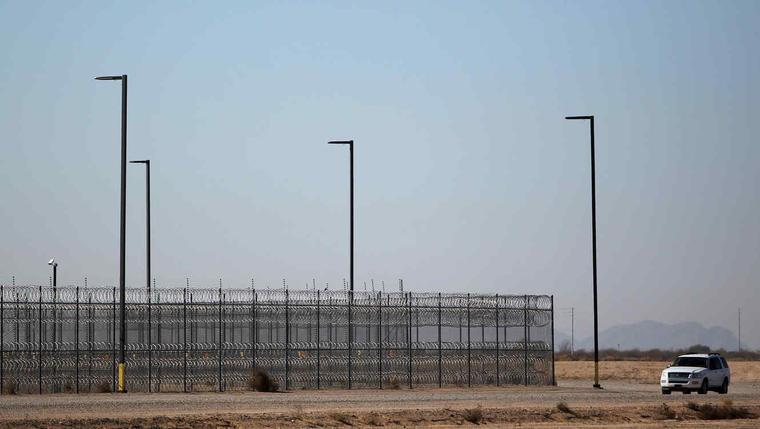 Centro de detención de inmigrantes en Eloy, Arizona, en una imagen de archivo.