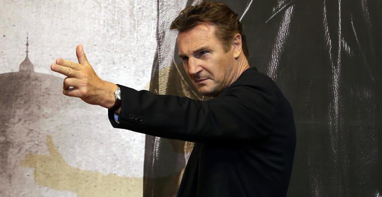 Liam Neeson, en una conferencia de prensa por 'Taken 2' en septiembre de 2012.